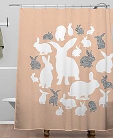 Iveta Abolina Nordic Bunny Shower Curtain