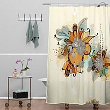 Iveta Abolina Brown Teal Shower Curtain