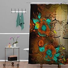 Iveta Abolina Skulls And Roses Shower Curtain