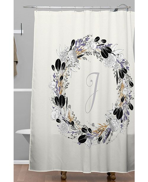 Deny Designs Iveta Abolina Silver Dove J Shower Curtain