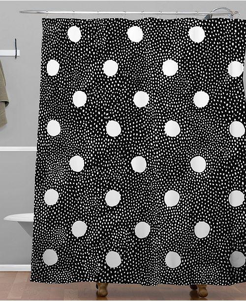 Deny Designs Iveta Abolina Black Polka Shower Curtain