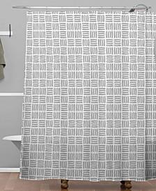 Iveta Abolina Pine Needle Checker I Shower Curtain