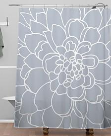 Deny Designs Iveta Abolina Iceland Frost Blue Shower Curtain