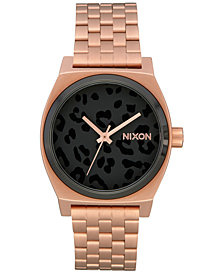 Nixon Women's Medium Time Teller Stainless Steel Bracelet Watch 31mm A1130