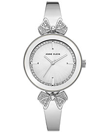 Anne Klein Women's Silver-Tone Bangle Bracelet Watch 31mm