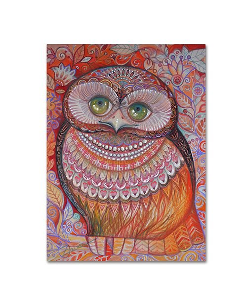 "Trademark Global Oxana Ziaka 'Gold Honew Owl' Canvas Art - 19"" x 14"" x 2"""