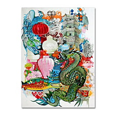 Oxana Ziaka 'Folk Dragon' Canvas Art Collection