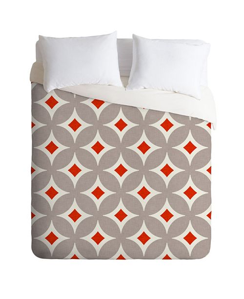 Deny Designs Holli Zollinger Vermillion Diamond King Duvet Set
