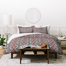 Deny Designs Holli Zollinger Raining Coral Linen Twin Duvet Set