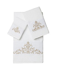 Linum Home Scarlet 3-Pc. Embellished Towel Set