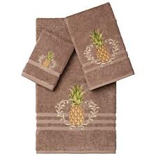 Linum Home Welcome 3-Pc. Embellished Towel Set