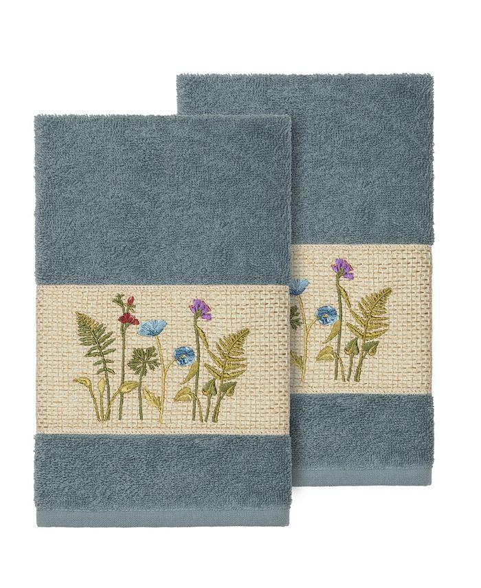 Linum Home - SERENITY 2PC Embellished Hand Towel Set