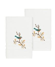 Linum Home Springtime 2-Pc. Embellished Hand Towel Set