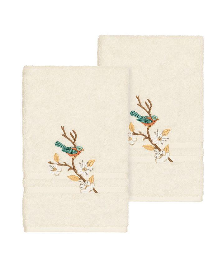 Linum Home - SPRING TIME 2PC Embellished Hand Towel Set