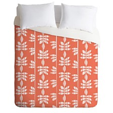 Deny Designs Heather Dutton Abadi Coral Queen Duvet Set