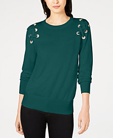 MICHAEL Michael Kors Lace-Up Sweater