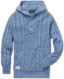 Polo Ralph Lauren Big Boys Aran-Knit Cotton Hoodie