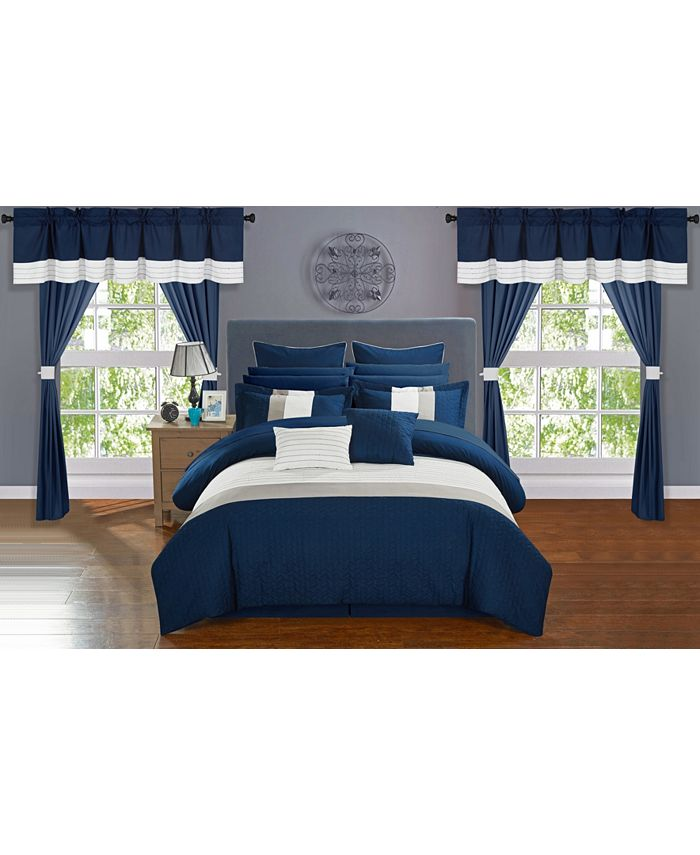 Chic Home - Vixen 24-Pc. Bed In a Bag Comforter Sets