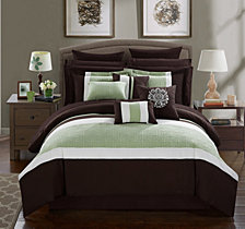 Chic Home Pisa 16-Pc Queen Comforter Set