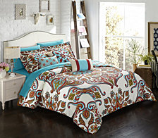 Chic Home La Harpe 10-Pc Queen Comforter Set
