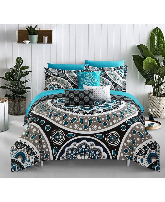 Chic Home - Mornington 10-Pc. Bed In a Bag Comforter Sets