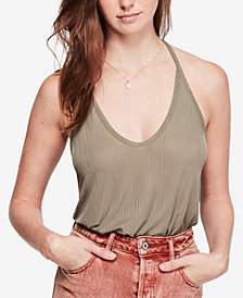 Free People Slinky Slink Textured Tank Top