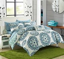 Chic Home Barcelona 8-Pc King Comforter Set