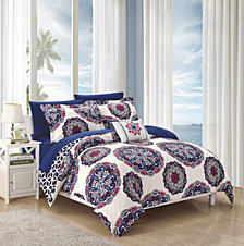 Chic Home Barcelona 8-Pc Full/Queen Comforter Set