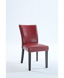 Bella Luna Bonded Leather Parsons Chair (Set of 2)