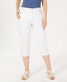 Button-Hem Capri Pants, Created for Macy's