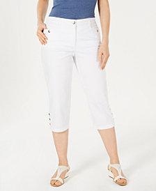 Karen Scott Button-Hem Capri Pants, Created for Macy's