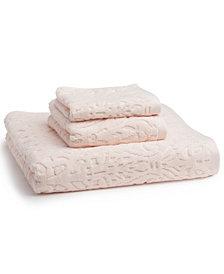"""Kassatex Firenze 100% Cotton Floral Jacquard 18"""" x 28"""" Hand Towel"""