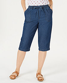 Karen Scott Denim Capri Pants, Created for Macy's