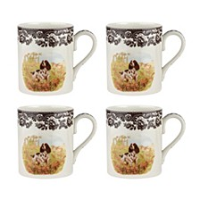 Woodland  English Spaniel Mug - Set of 4