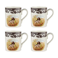 Spode Woodland  English Spaniel Mug - Set of 4