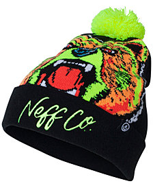 Neff Men's Psych Graphic Pom Pom Beanie