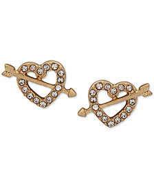 lonna & lilly Gold-Tone Pavé Heart Stud Earrings