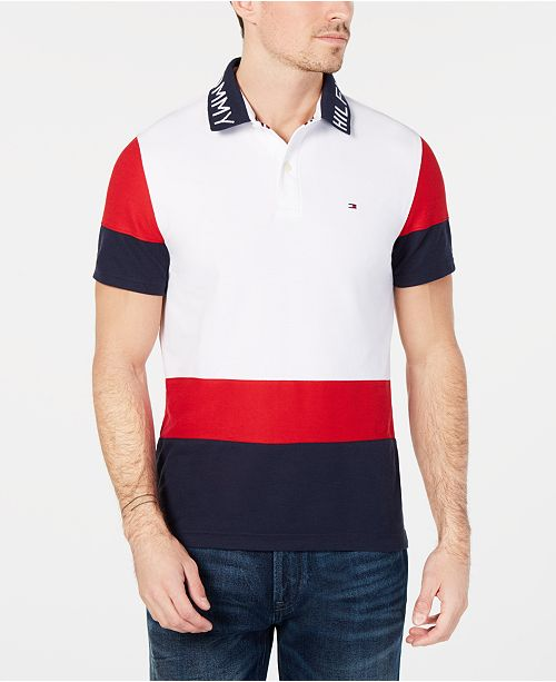 Tommy Hilfiger Men s Classic Fit Bryant Colorblocked Polo - Polos ... 6a2bd6e184