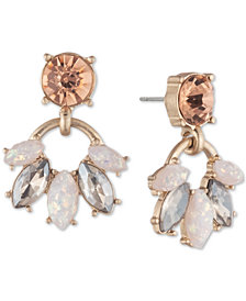 lonna & lilly Gold-Tone Crystal & Stone Drop Earrings