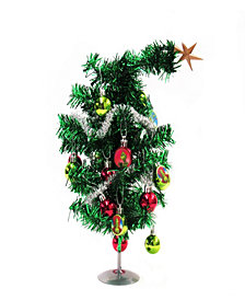 The Grinch Miniature Tinsel Christmas Tree and Ornament Set