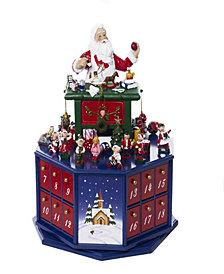 Kurt Adler 12-Inch Santa Workshop Musical Advent Calendar