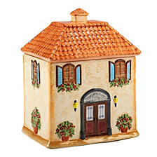 Certified International Piazette 3-D Villa House Cookie Jar