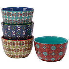 Certified International Monterrey 4-Pc. Ice Cream Bowl