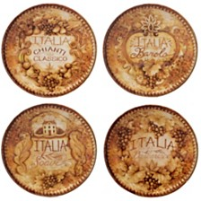 Certified International Gilded Wine 4-Pc. Canape Plate