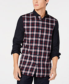 A|X Armani Exchange Men's Slim-Fit Pattern-Blocked Shirt