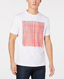 A|X Armani Exchange Men's Repeated Logo Print T-Shirt, Created for Macy's