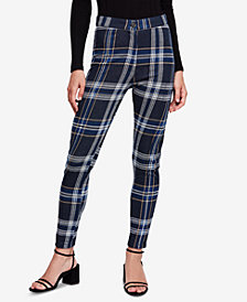Free People Plaid Skinny Pants