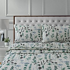 Fleur 170-GSM Cotton Flannel Printed Extra Deep Pocket Cal King Sheet Set