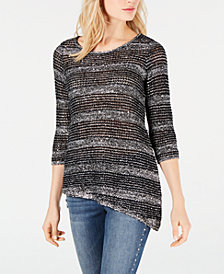 I.N.C. Sequined Sweater Tunic, Created for Macy's