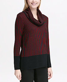Calvin Klein Colorblocked Cowl-Neck Sweater